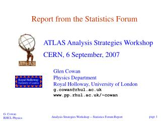 Report from the Statistics Forum