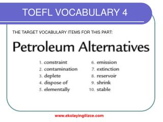 TOEFL VOCABULARY 4