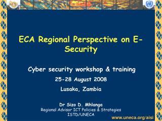 ECA Regional Perspective on E-Security