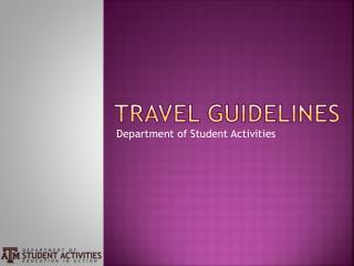 Travel Guidelines