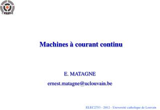 Machines   courant continu