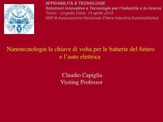Nanotecnologie la chiave di volta per le batterie del futuro  e l'auto elettrica