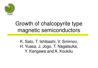 Growth of chalcopyrite type magnetic semiconductors