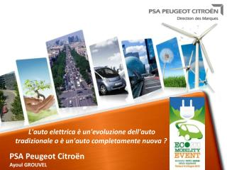 PSA Peugeot Citroën The Electric vehicle SIEMENS