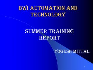 BWI Automation and Technology