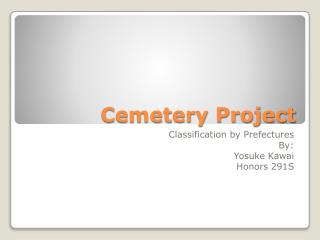 Cemetery Project