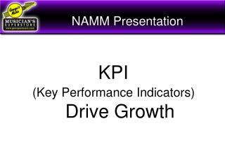 NAMM Presentation