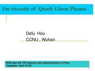 On viscosity of  Quark Gluon Plasma