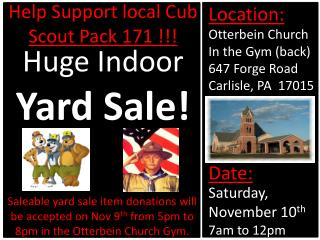 Help Support local Cub  Scout Pack 171 !!!