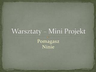 Warsztaty – Mini Projekt