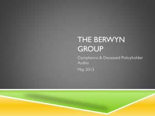 The Berwyn Group