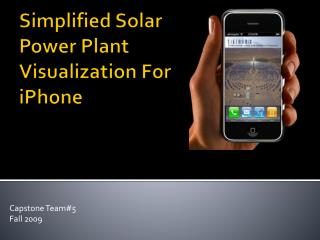 Simplified Solar Power Plant Visualization For  iPhone