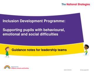 Guidance notes for leadership teams