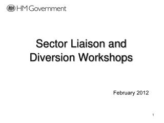 Sector Liaison and Diversion Workshops