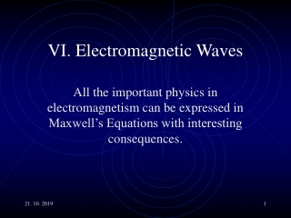 The Laws of Electromagnetism Maxwell s Equations Displacement Current Electromagnetic Radiation