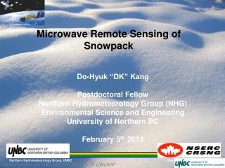 Microwave Remote Sensing of Snowpack