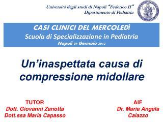 Un'inaspettata causa di compressione midollare
