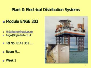 Plant  Electrical Distribution Systems