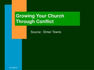Growing Your Church Through Conflict