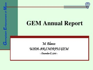 GEM Annual Report