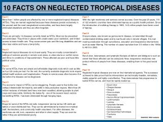 10 FACTS ON NEGLECTED TROPICAL DISEASES