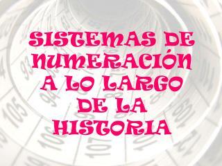 SISTEMAS DE NUMERACIÓN A LO LARGO DE LA HISTORIA