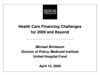 2006 National Health Expenditures = $2.1 trillion
