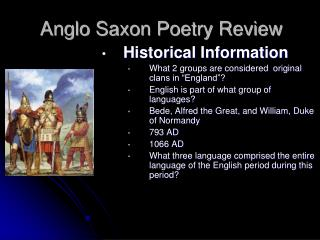 Anglo Saxon Poetry Review