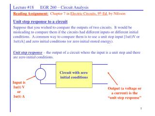 Lecture #18      EGR 260 – Circuit Analysis