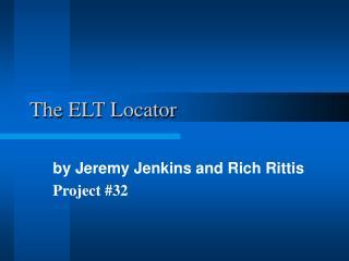 The ELT Locator