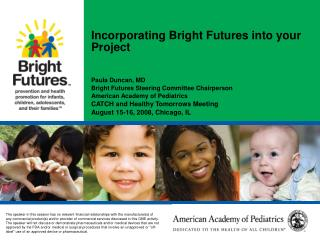 Incorporating Bright Futures into your Project