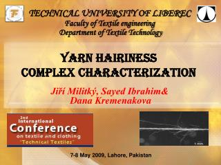 Yarn HAIRINESS  COMPLEX CHARACTERIZATION