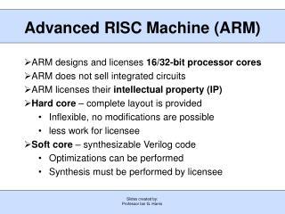 Advanced RISC Machine (ARM)