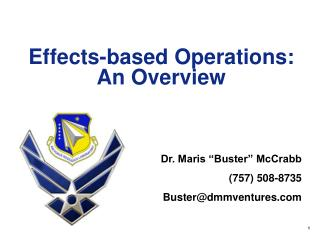 Effects-based Operations: An Overview