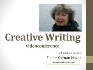 Creative Writing videoconference