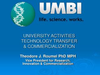 UNIVERSITY ACTIVITIES TECHNOLOGY TRANSFER  COMMERCIALIZATION
