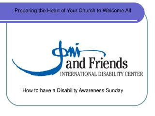 How to have a Disability Awareness Sunday