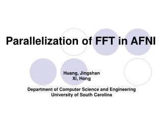 Parallelization of FFT in AFNI