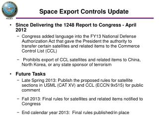 Space Export Controls Update