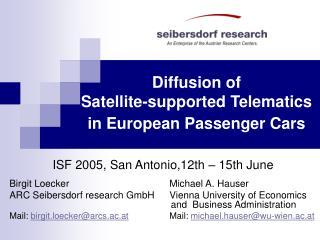 Diffusion of  Satellite-supported Telematics in European Passenger Cars
