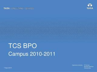 TCS BPO Campus 2010-2011