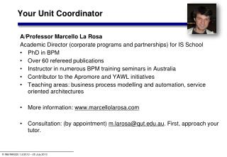 Your Unit Coordinator