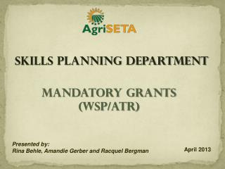 Mandatory Grants (WSP/ATR)