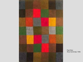 Paul Klee: Nova harmonija , 1936.