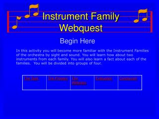 Instrument Family Webquest
