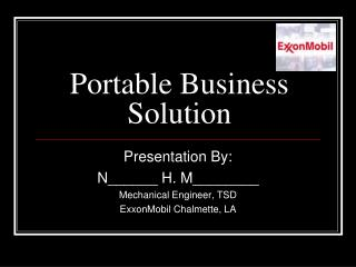 Portable Business Solution