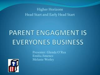 PARENT ENGAGMENT IS EVERYONES BUSINESS