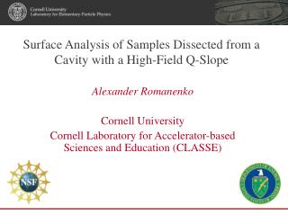 Surface Analysis of Samples Dissected from a Cavity with a High-Field Q-Slope