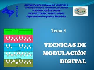 Tema  3 TECNICAS DE  MODULACIÓN DIGITAL