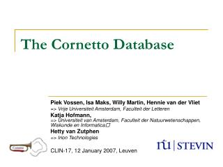 The Cornetto Database